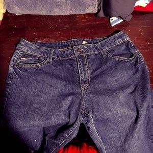 Apt. 9 Embellished Capri Jeans Zipper Back Pockets
